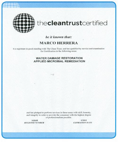 Marco The Clean Trust Certificate