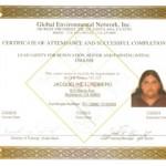 RRP Jacqueline Romero Certificate